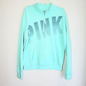 Pink Victoria Secret sweatshirt with pouch pocket